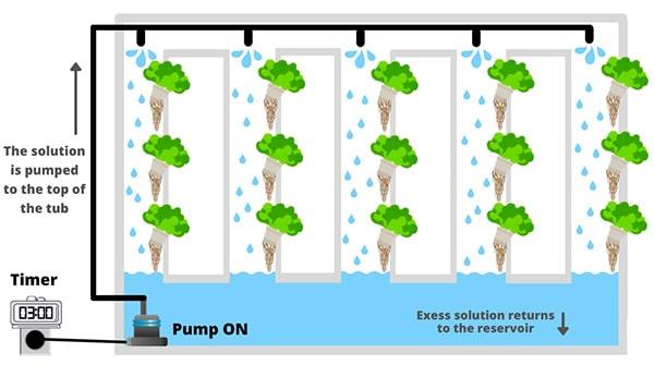 Indoor Outdoor Vertical Garden schema example hydroponic wall