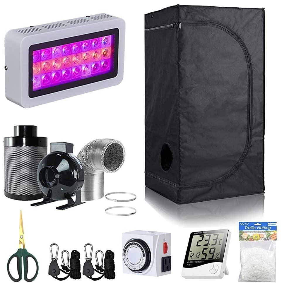 BloomGrow LED Grow Tent Kit – Best for Small Spaces