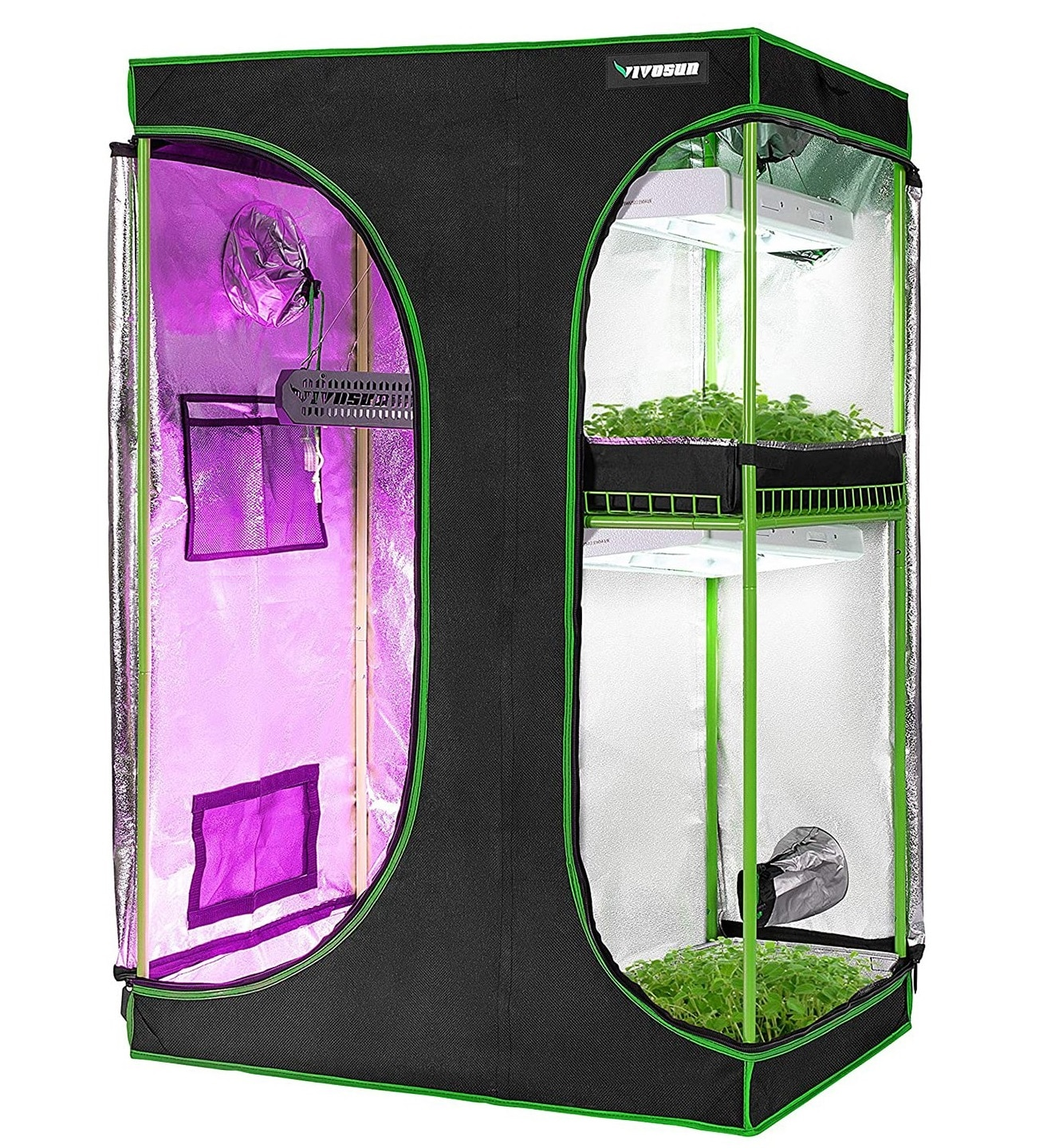 VIVOSUN 2-in-1 Grow Tent – Best for Growing Two Different Plant Types