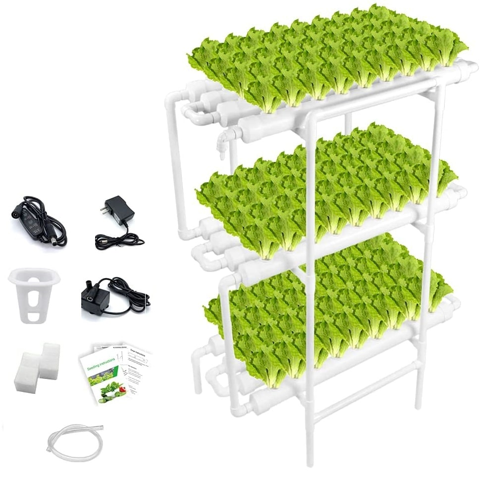 EPLANT Hydroponic Growing System NFT with Timer Control – Best Low Maintenance Option