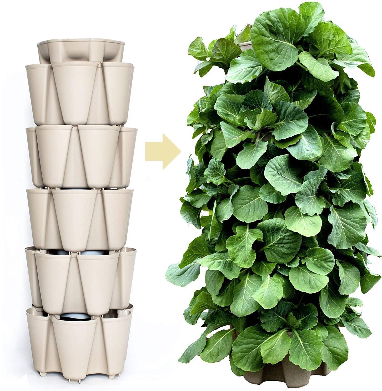 Greenstalk Patented Large 5 Tier Vertical Garden Planter – Best Hydroponic Garden Tower