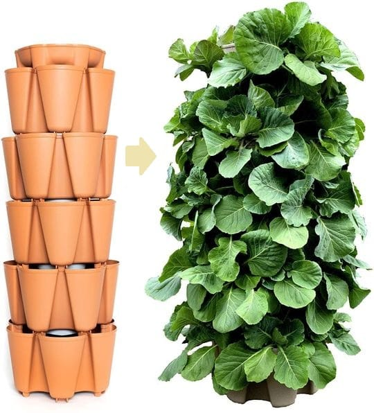 GreenStalk Patented Large 5 Tier Vertical Garden Planter with Patented Internal Watering System - Best Easy to Use