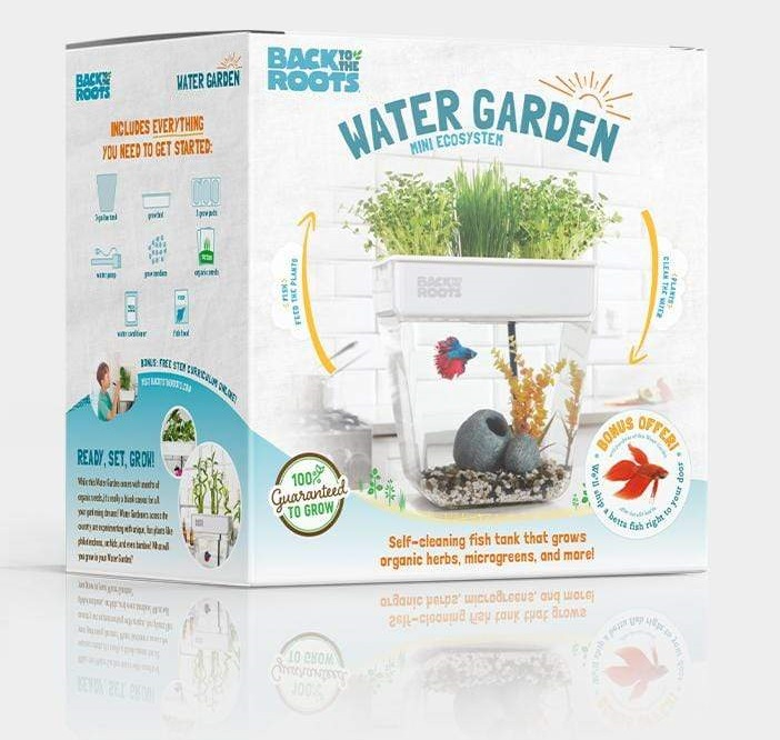 Back to the Roots Water Garden, Self-Cleaning Fish Tank, Mini Aquaponic Ecosystem – Best Aquaponic NFT System